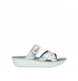 wolky slippers 00878 barbados 70980 white multi color canal leather