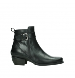 wolky ankle boots 00407 bronson 30000 black leather