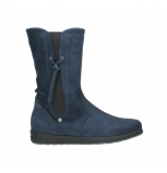 wolky mid calf boots 02424 newton 13800 blue nubuckleather