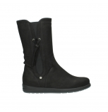 wolky mid calf boots 02425 newton wp 13000 black nubuckleather