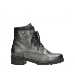 wolky lace up boots 04475 ronda 81280 metal grey leather