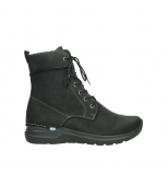 wolky lace up boots 06601 walla walla 11000 black nubuck
