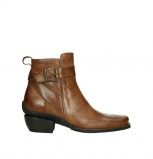 wolky ankle boots 00407 bronson 30430 cognac leather