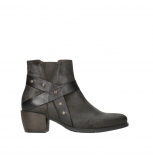 wolky ankle boots 02875 silio 45305 dark brown suede