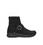 wolky ankle boots 06611 okay 11000 black nubuck