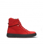 wolky ankle boots 02075 wheel 11505 dark red nubuck