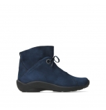 wolky lace up boots 01657 diana 11800 blue nubuck
