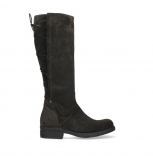 wolky long boots 02633 longview 45305 dark brown suede