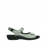wolky sandalen 01300 salvia 87130 silver grey pearl leather