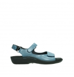 wolky sandalen 01300 salvia 87860 steel blue pearl leather