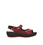 wolky sandalen 03325 rio 40500 red craquele leather