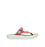 wolky slippers 00821 peace 87500 red pearl leather