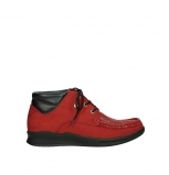 wolky lace up boots 05903 three 10505 darkred stretch nubuck