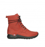 wolky lace up boots 06601 walla walla 11505 darkred nubuckleather