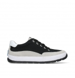 wolky lace up shoes 01425 babati 94000 black canvas suede