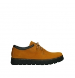 wolky lace up shoes 02325 vic 16925 dark ocher nubuck