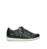 wolky lace up shoes 02429 friction xw 26000 black smooth leather croco patent leather