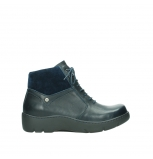 wolky lace up boots 03252 daydream 24800 blue leather