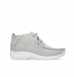 wolky lace up shoes 06200 roll moc 11206 light grey nubuck