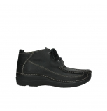wolky lace up shoes 06200 roll moc 70000 black leather