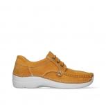 wolky lace up shoes 06289 seamy up 11550 orange nubuck