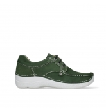wolky lace up shoes 06289 seamy up 11720 moss green nubuck