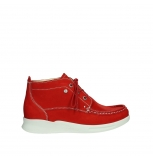 wolky lace up boots 05906 six 10570 red stretch nubuck