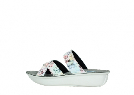 wolky slippers 00878 barbados 70980 white multi color canal leather_2