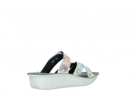 wolky slippers 00878 barbados 70980 white multi color canal leather_10