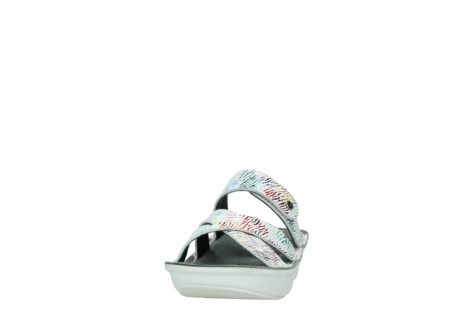 wolky slippers 00878 barbados 70980 white multi color canal leather_20