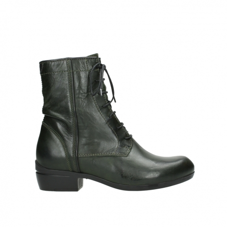 wolky lace up boots 00956 fortuna 30730 forest leather