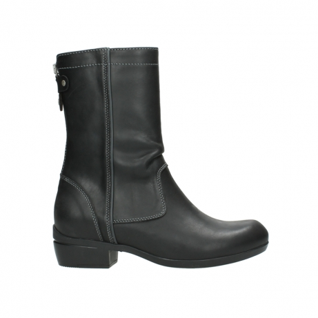 wolky boots 00957 colusa 50002 black leather