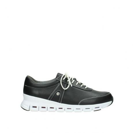 wolky lace up shoes 02050 nano 20000 black leather