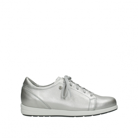 wolky lace up shoes 02420 kinetic 81130 silver leather