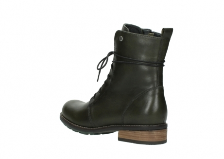 wolky mid calf boots 04438 murray cw 20730 forest green leather cold winter warm lining_4