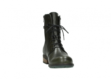 wolky mid calf boots 04438 murray cw 20730 forest green leather cold winter warm lining_18