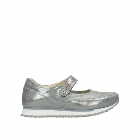 wolky mary janes 05805 e step 49200 silvergrey metallic stretch leather