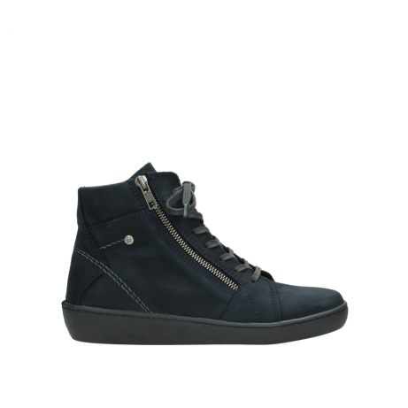 wolky lace up boots 08130 zeus 50800 blue oiled leather