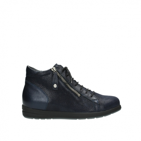 wolky ankle boots 02423 gravity 78800 blue combi leather