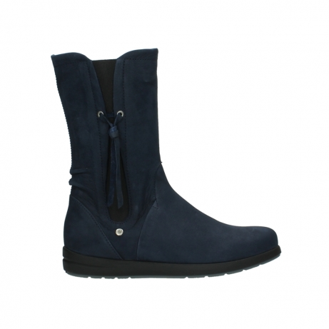 wolky mid calf boots 02425 newton wp 13800 blue nubuckleather