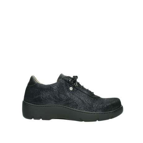 wolky lace up shoes 03250 fantasy 43800 blue metal suede