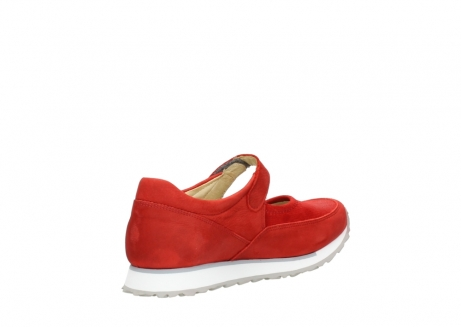 wolky mary janes 05805 e step 11500 red stretch nubuck_10