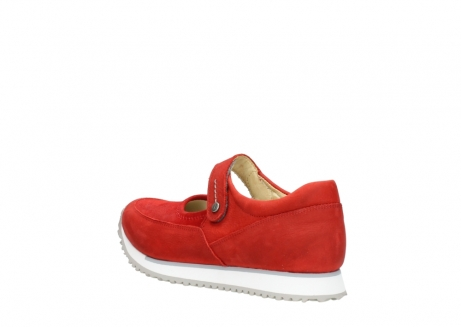 wolky mary janes 05805 e step 11500 red stretch nubuck_4