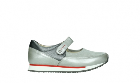 wolky mary janes 05805 e step 87130 silver grey pearl stretch leather_1