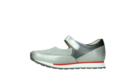 wolky mary janes 05805 e step 87130 silver grey pearl stretch leather_12