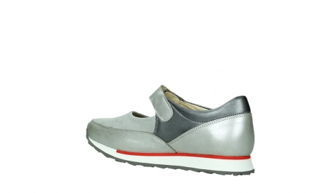 wolky mary janes 05805 e step 87130 silver grey pearl stretch leather_15