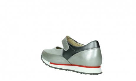 wolky mary janes 05805 e step 87130 silver grey pearl stretch leather_16
