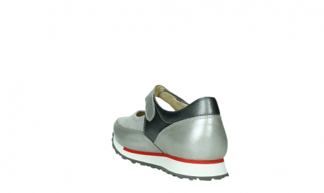 wolky mary janes 05805 e step 87130 silver grey pearl stretch leather_17