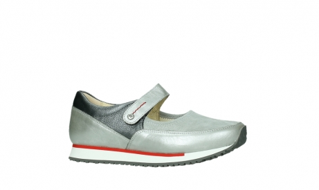 wolky mary janes 05805 e step 87130 silver grey pearl stretch leather_2