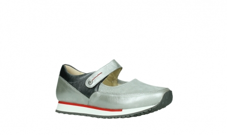 wolky mary janes 05805 e step 87130 silver grey pearl stretch leather_3